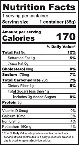 Beet Vegan Puffs Nutrition Facts