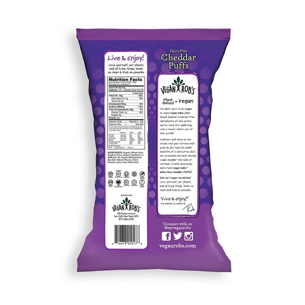 Dairy Free Vegan Cheddar Puffs Nutrition Facts