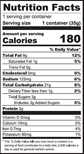 Jackfruit Vegan Puffs Nutrition Facts