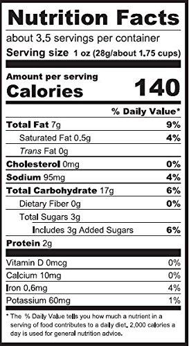 Moringa Vegan Puffs Nutrition Facts