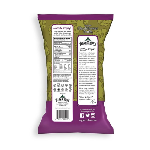 Probiotic Cauliflower Vegan Puffs Nutrition Facts