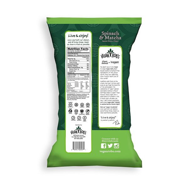 Spinach & Matcha Kettle Chips Nutrition Facts