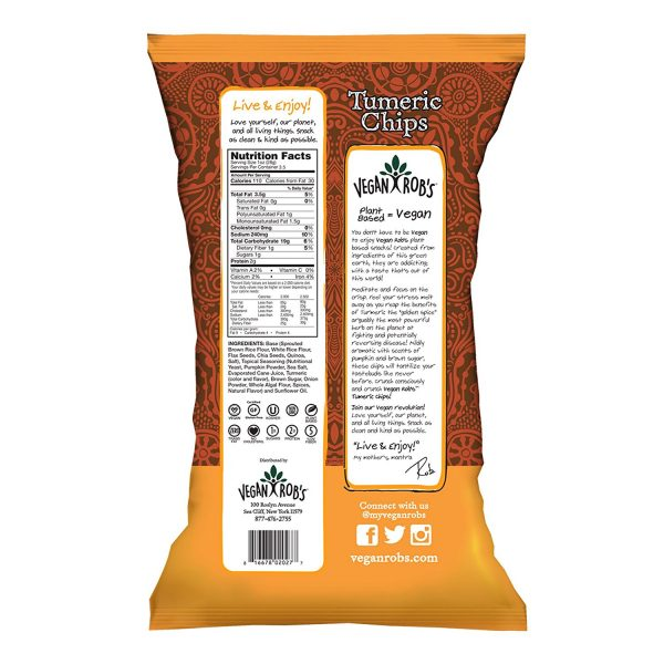 Tumeric Vegan Chips Nutrition Facts