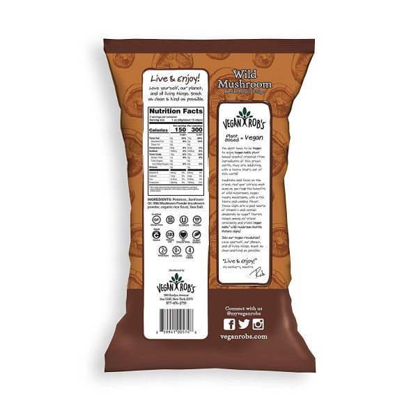 Wild Mushroom Kettle Vegan Chips Nutrition Facts