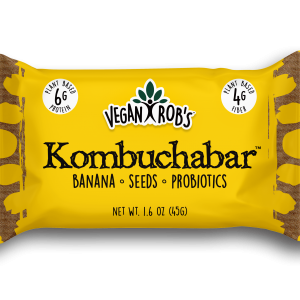 Vegan Kombucha bar Banana 45g Front