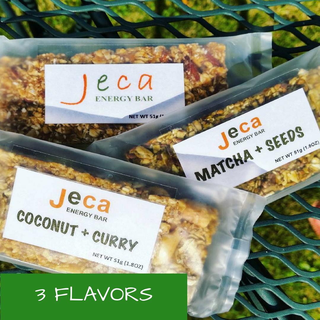 Vegan, Gluten Free, Non-Gmo, Natural, Organic, Jecabars