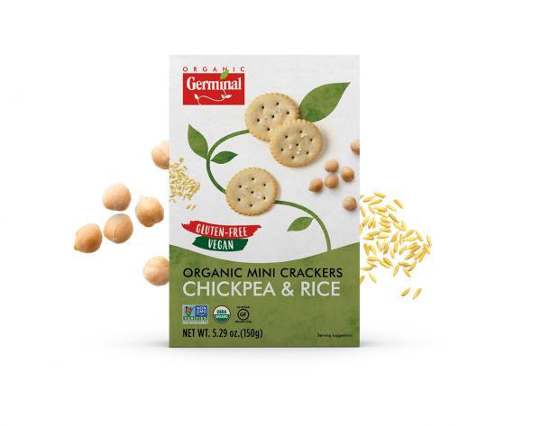 Deja Vegan Chickpea Rice Organic Mini Crackers