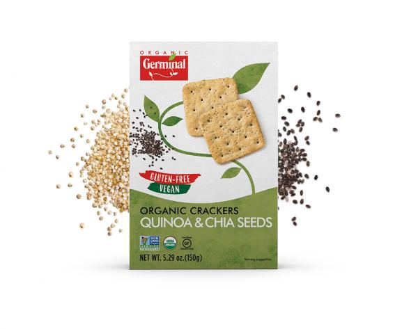 Deja Vegan Quinoa & Chia Seeds Organic Crackers
