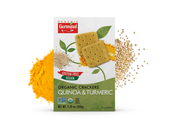 Deja Vegan Quinoa & Turmeric Organic Crackers