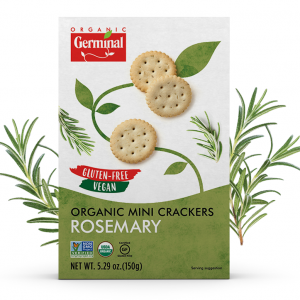 Deja Vegan Rosemary Organic Mini Crackers