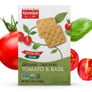 Deja Vegan Tomato Basil Organic Crackers