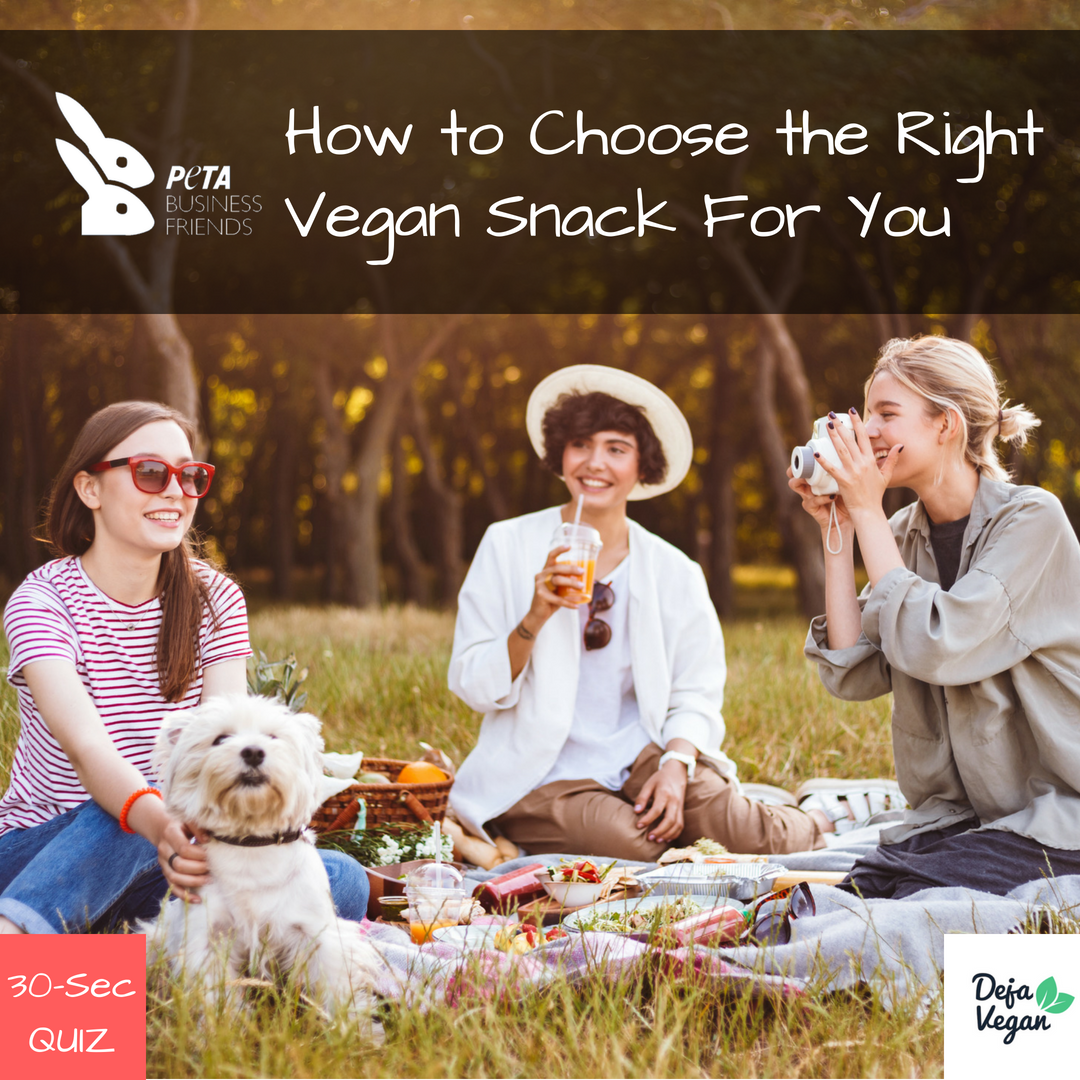 TAKE OUR 30-SECOND EASY QUIZ TO RECEIVE A TAILORED SNACK RECOMMENDATION