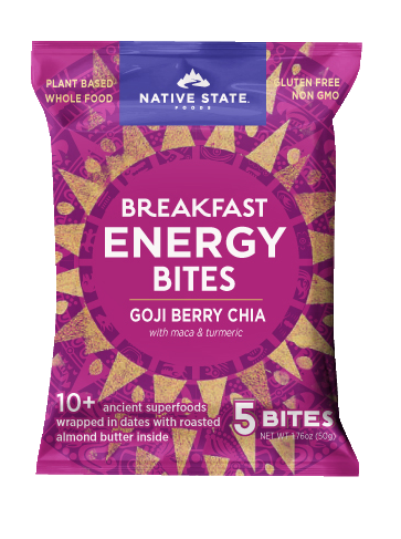ORGANIC BREAKFAST ENERGY BITES, GOJI BERRY CHIA