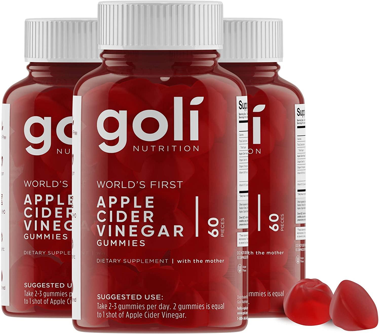 Vegan, Gluten Free, Non-Gmo, Natural, Organic, Goli, Apple Cider Vinegar, Gummies