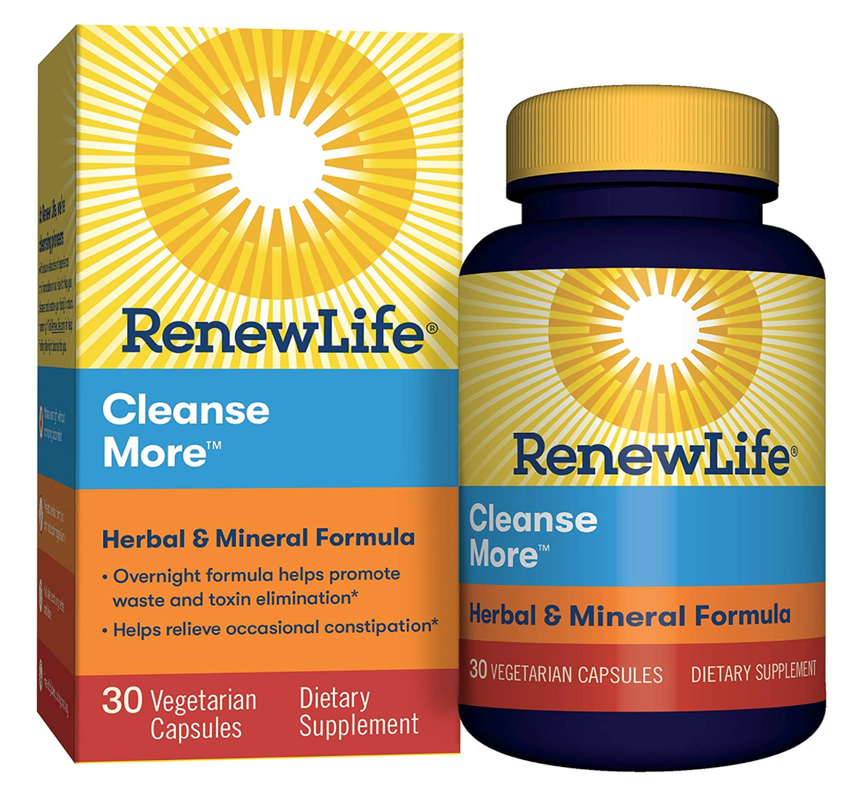 Vegan, Gluten Free, Non-Gmo, Natural, Cleansemore Constipation relief